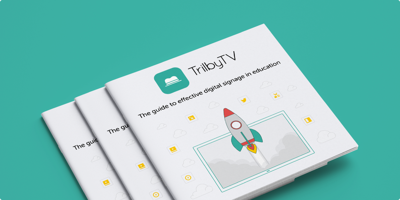Request your free digital signage guide TrilbyTV